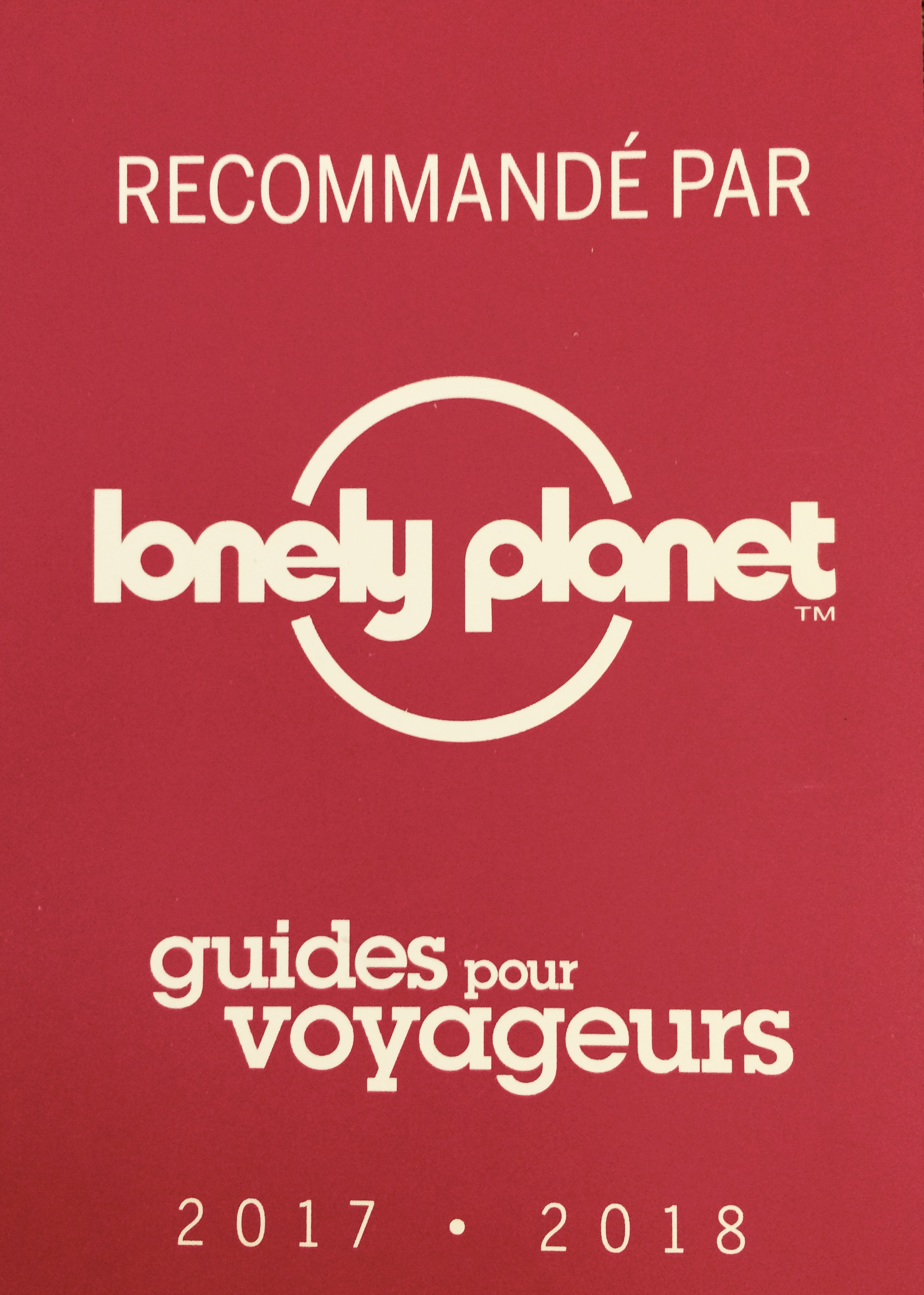 Recommandé par Lonely Planet !!